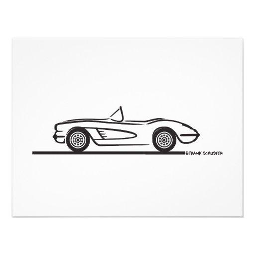 1958 Corvette Convertible Personalized Invite
