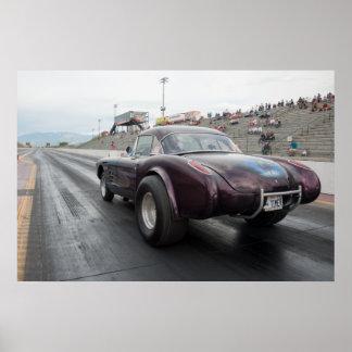1958 gasser Corvette Poster