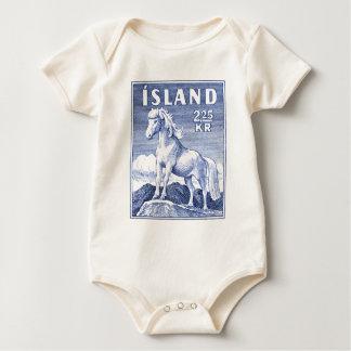 1958 Icelandic Horse Postage Stamp Baby Bodysuit