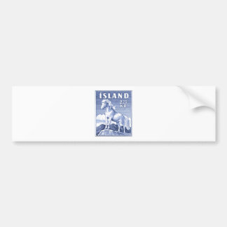 1958 Icelandic Horse Postage Stamp Bumper Sticker