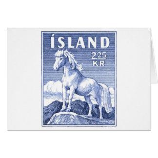 1958 Icelandic Horse Postage Stamp Card