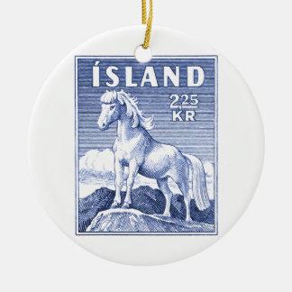 1958 Icelandic Horse Postage Stamp Ceramic Ornament