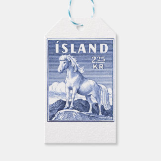 1958 Icelandic Horse Postage Stamp Gift Tags
