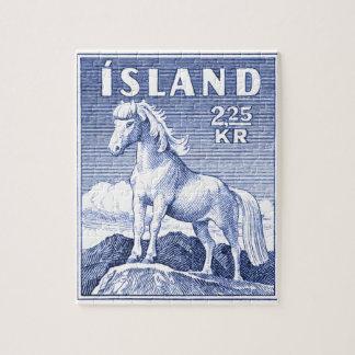 1958 Icelandic Horse Postage Stamp Jigsaw Puzzle