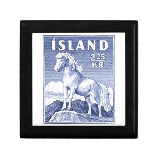 1958 Icelandic Horse Postage Stamp Keepsake Boxes