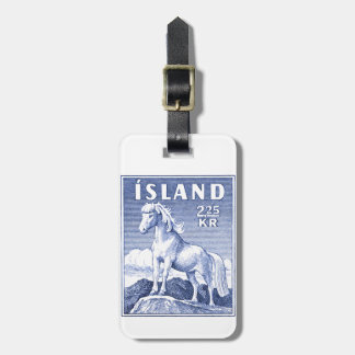 1958 Icelandic Horse Postage Stamp Luggage Tag