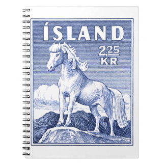 1958 Icelandic Horse Postage Stamp Notebook