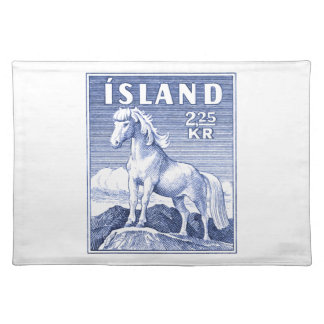 1958 Icelandic Horse Postage Stamp Placemat
