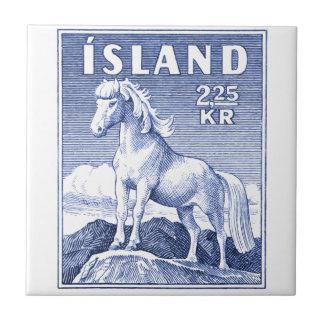 1958 Icelandic Horse Postage Stamp Tile