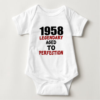 1958 LEGENDARY AGED TO PERFECTION BABY BODYSUIT