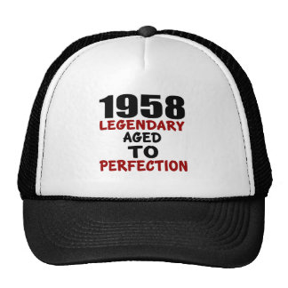 1958 LEGENDARY AGED TO PERFECTION TRUCKER HAT