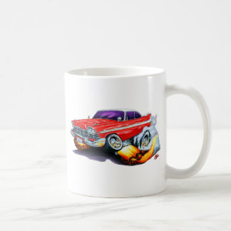 1958 Plymouth Fury Red Car Coffee Mug