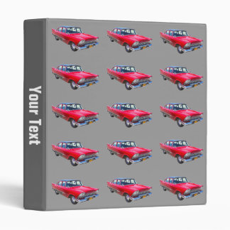 1958 Plymouth Savoy Classic Antique Car 3 Ring Binders