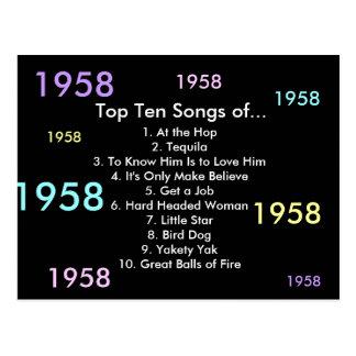 1958 Songs Postcard