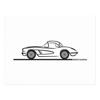 1959 1960 Chevrolet Corvette Hardtop Post Card
