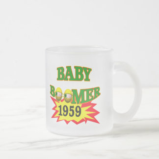 1959 Baby Boomer Frosted Glass Coffee Mug