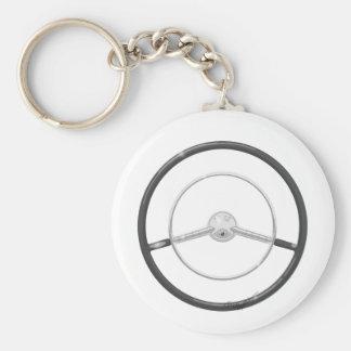 1959 Buick Steering Wheel Basic Round Button Keychain