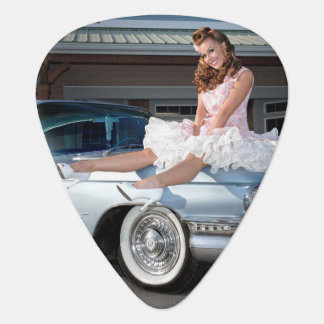 1959 Caddy Cadillac Princess Pin Up Car Girl Guitar Pick