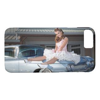 1959 Caddy Cadillac Princess Pin Up Car Girl iPhone 8/7 Case