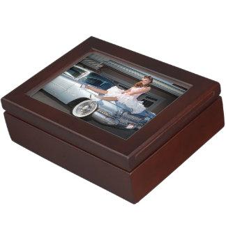 1959 Caddy Cadillac Princess Pin Up Car Girl Keepsake Box