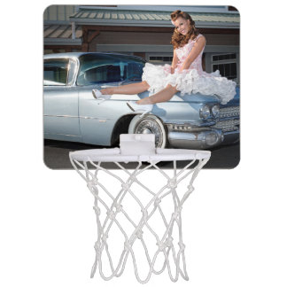 1959 Caddy Cadillac Princess Pin Up Car Girl Mini Basketball Hoop