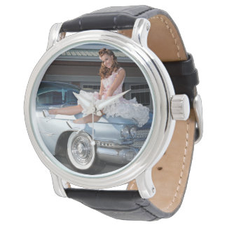 1959 Caddy Cadillac Princess Pin Up Car Girl Watch