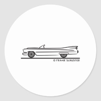 1959 Cadillac Convertible Round Sticker