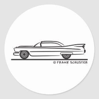 1959 Cadillac Coupe Round Sticker