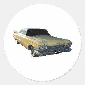 1959 Cadillac Cream Round Sticker