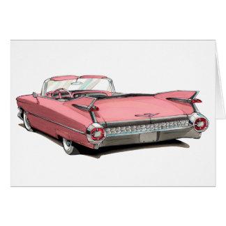 1959 Cadillac Pink Car Card
