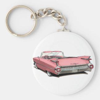 1959 Cadillac Pink Car Keychain
