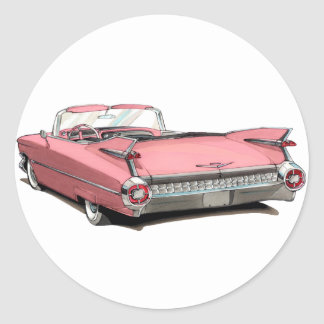 1959 Cadillac Pink Car Stickers