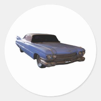 1959 Cadillac powder blue Round Stickers