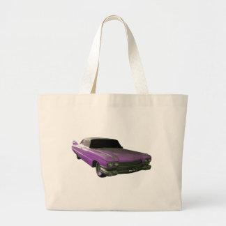 1959 Cadillac purple Large Tote Bag