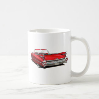 1959 Cadillac Red Car Coffee Mug