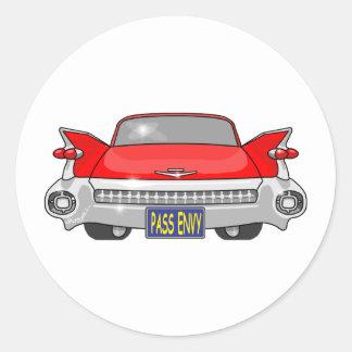 1959 Cadillac Round Sticker