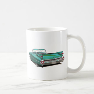 1959 Cadillac Teal Car Coffee Mug