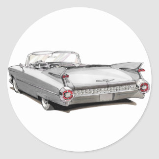 1959 Cadillac White Car Stickers