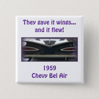1959 Chevy Bel Air 2 Inch Square Button