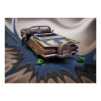 1959 Chevy Impala, junkyard Car, Classic car, art Poster