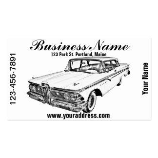 1959 Edsel Ford Ranger Illustration Business Card Template
