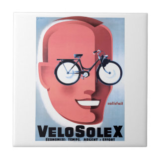 1959 Solex Powered Bicycle Advertising Poster Tile