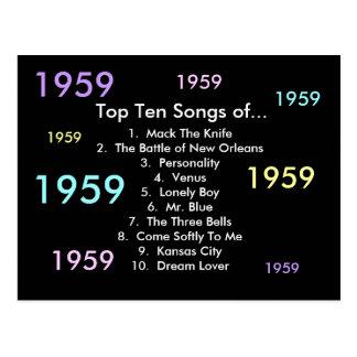 1959 Songs Postcard