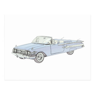 1960 Chevy Impala Postcard