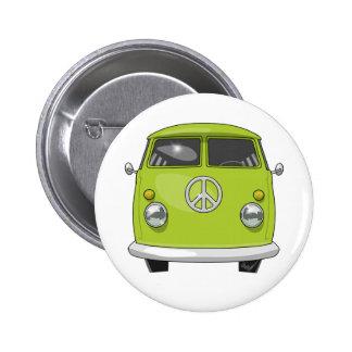 1960 Hippie Van 2 Inch Round Button