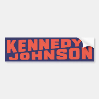 1960 John F Kennedy Johnson Vintage Bumper Sticker