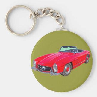 1960 Mercedes Benz 300 SL Convertible Keychain