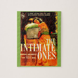 1960 pulp novel cover The Intimate Ones Jigsaw Puzzle