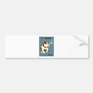1960 Qantas Britain Bulldog Travel Poster Bumper Sticker