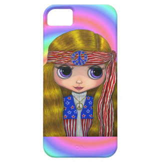 1960s, 1970s Hippie Chick in Stars and Stripes Case For The iPhone 5